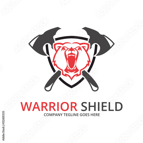 """Bear Shield Logo. Warrior Logo"" Stock Image And Royalty"