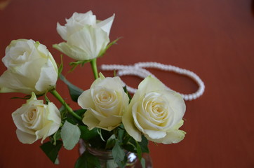 pistachio roses on a white background, tenderness, love, valentines day
