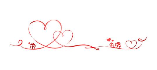 Herz Schleife Geschenk