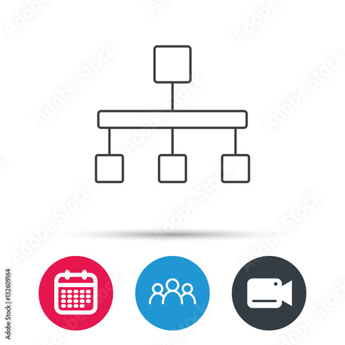 Hierarchy icon organization chart sign database symbol group of hierarchy icon organization chart sign database symbol group of people video cam ccuart Image collections