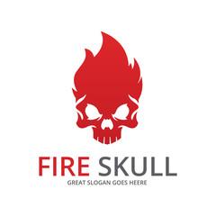 Fire skull.