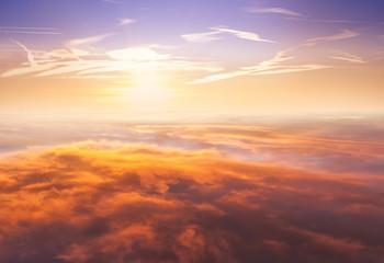 Keuken foto achterwand Hemel Beautiful sunset above clouds