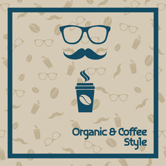 Organic and Coffee seamless texture hipster glass
