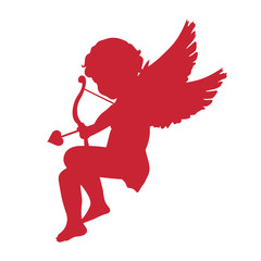 cupid icon. Valentine's Day concept. vector illustration