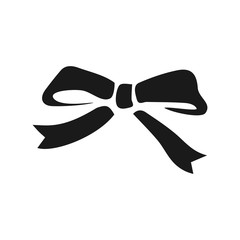 Bow Ribbon Minimalistic Flat Icon. Present decoration sign. Ribbon for packaging symbol. Vector image to be used in web applications, mobile applications and print media.