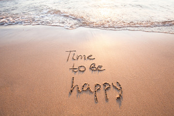 time to be happy, happiness concept Wall mural