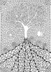 Tree of life, graphic arts