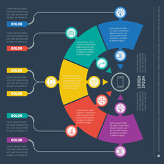 Vector infographic of technology or education process. Business