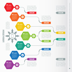 Vector infographic of technology or education process. Part of t