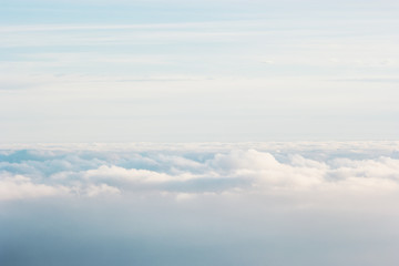 Sky Clouds background beautiful scenery with natural soft color Aerial view