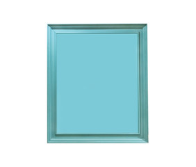 green picture frame isolated on white background with clipping path.