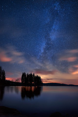 Milky Way over the lake /