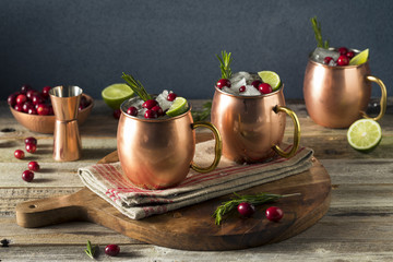 Alcoholic Festive Moscow Mules