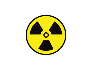 Vector radioactive warning icon