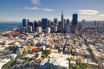 Aerial of San Francisco skyline