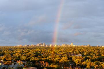 Rainbow over the city