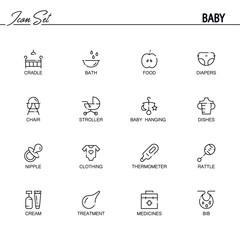 Baby's icon set