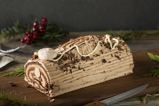 Homemade Chocolate Christmas Yule Log