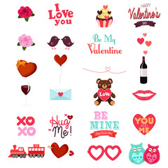 Valentines Day Clipart Icon Set