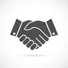 Handshake business vector icon