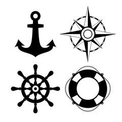 Sea travel vector icon set