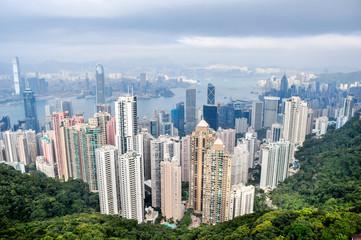 Aerial view of Hong Kong