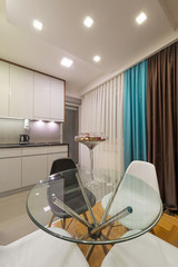 Kitchen interior, dining area