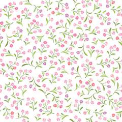 Floral white pattern. Flower seamless background. Flourish ornament. Spring garden texture