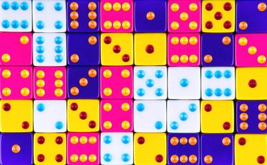 Colour dices.