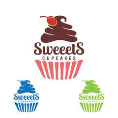 sweet cupcake, bakery logo,