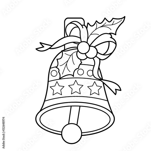 Coloring Page Outline Of Christmas Bell Christmas New Year