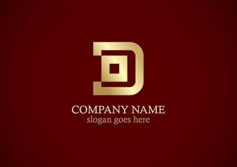 square letter d gold logo