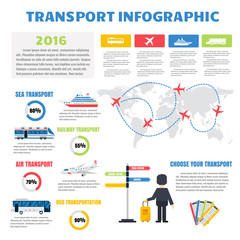 Transport infographic vector.