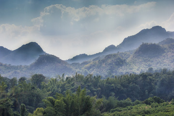Green Asian mountain of Thailand