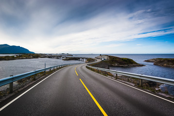 Atlantic road. Norway. The county of More og Romsdal.