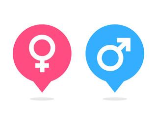 Male female balloon icon vector
