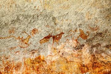 Ancient Bushman Rock Paintings - Domboshava Zimbabwe Africa