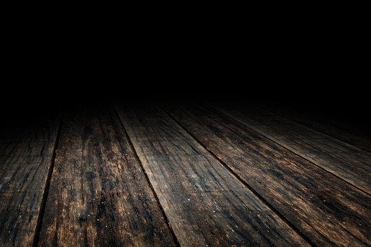 Grunge Plank wood floor texture perspective background for displ