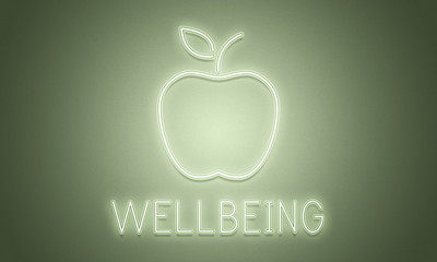Wellbeing Healthy Balance Graphic Apple