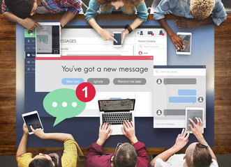 New Message Texting Connection Communication Concept