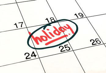 Planning holiday calendar to remind you an important appointment.