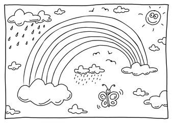 Ausmalbild Regenbogen