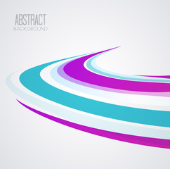 Vector abstract wave