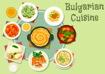 Bulgarian cuisine icon for food theme design