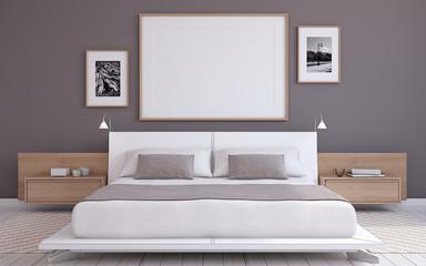 56f6486532 Bedroom interior. 3d render.