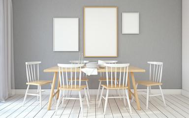 Dining-room interior.3d render.