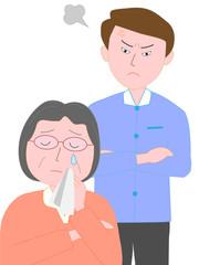 家庭のトラブル。親子の喧嘩。