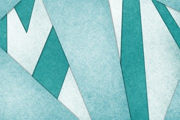 abstract material design layout with white textured stripes and angled shapes on teal blue background