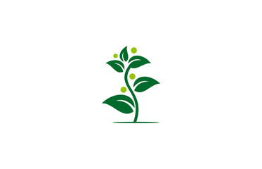 vector tree plant human logo