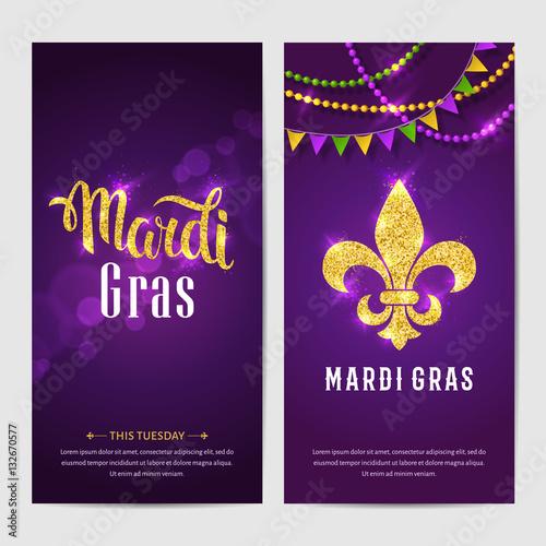 Mardi gras brochures vector logo with hand drawn lettering and mardi gras brochures vector logo with hand drawn lettering and golden fat tuesday symbols m4hsunfo Images